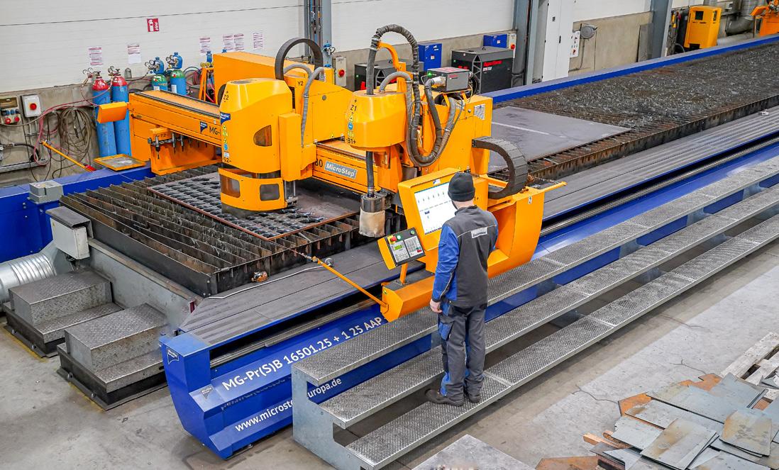 Maschinenpark Steinbrenner Plasmaschneiden
